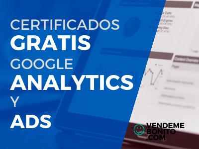 certificados gratis google analytics ads